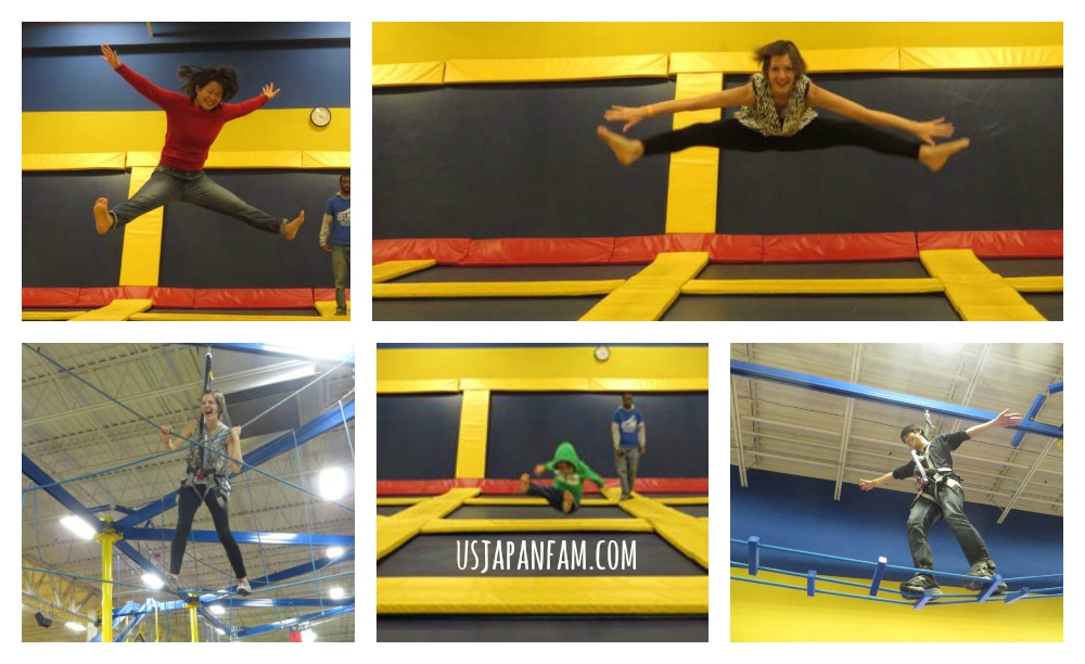 US Japan Fam loves Sky High Trampoline Park in Charlotte NC!