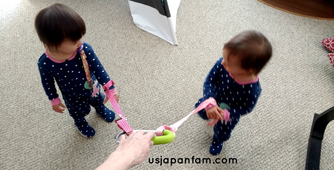 US Japan Fam's 13 Ways to Use The Mommy Hook: #5 - emergency baby leash
