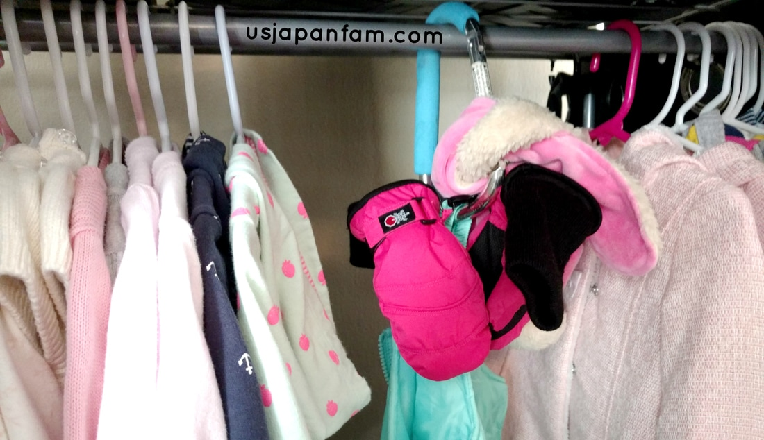 US Japan Fam's 13 Ways to Use The Mommy Hook: #7 - organize winter gear