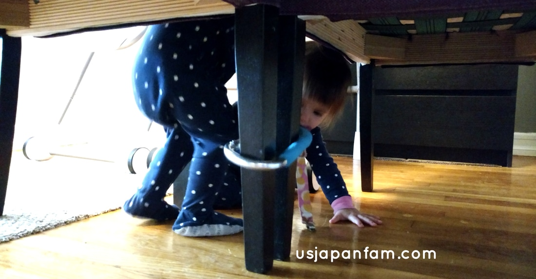 US Japan Fam's 13 Ways to Use The Mommy Hook: #13 - babyproofing
