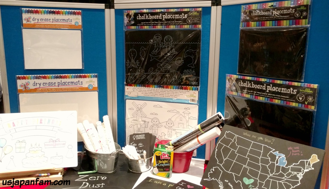 Chalkboard Placemats are one of US Japan Fam's BEST TOYS from Toy Fair 2017!