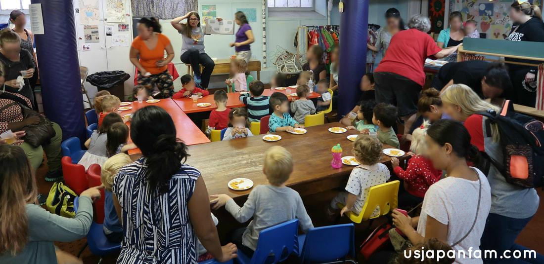 US Japan Fam reviews Union Church Playgroup in Bay Ridge, Brooklyn - story and snacktime