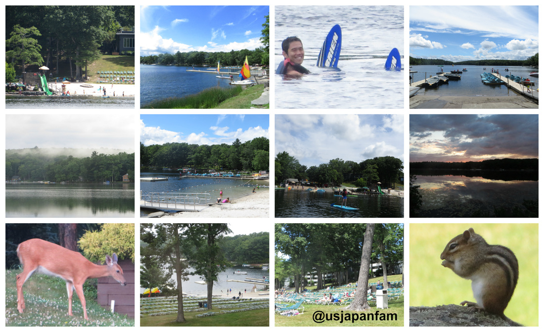 The beautiful lakeside activities and scenery at Woodloch Resort in The Poconos.