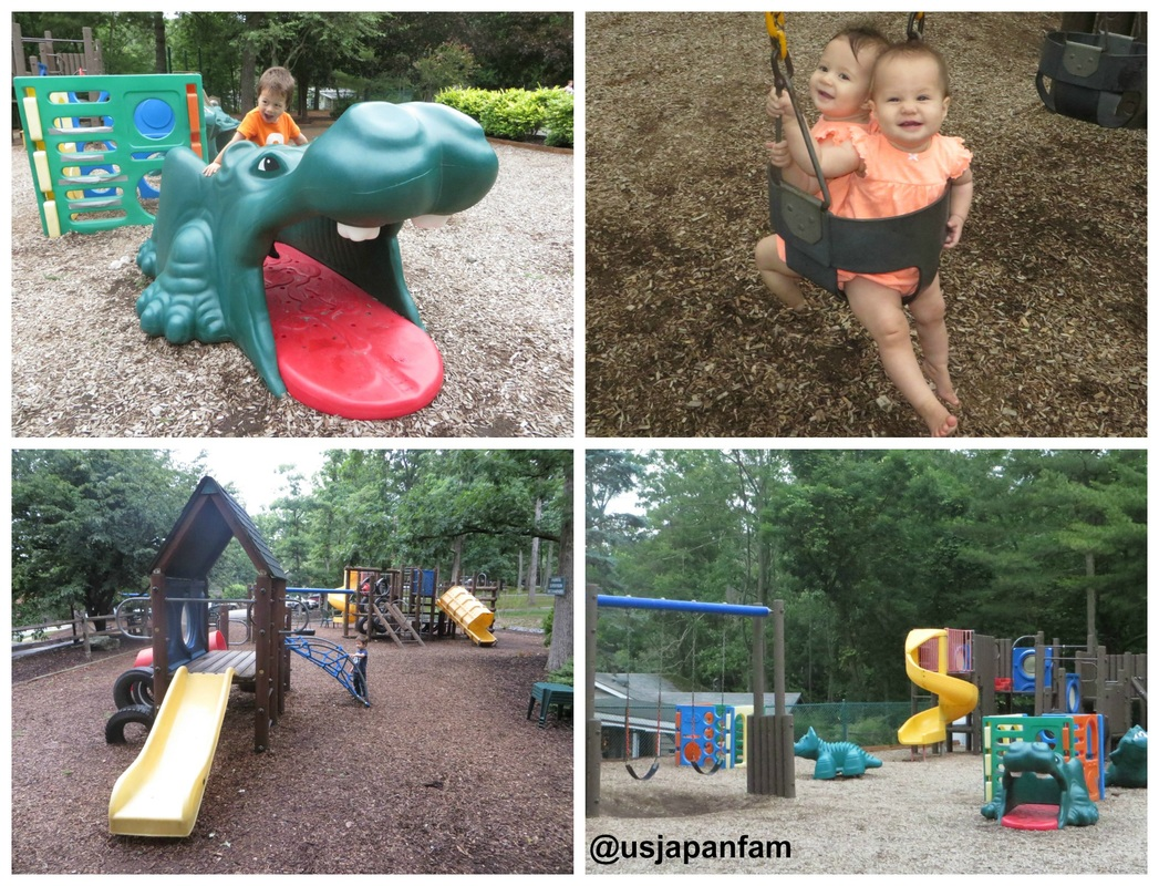 Several outdoor playgrounds at Woodloch Resort!